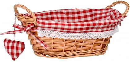 Корзинка для xлеба овальная, красная клетка, 27x19см Premier Housewares 1901048