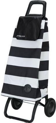 Сумка-тележка хозяйственная бело-чёрная Rolser RG MOUNTAIN MOU053blanco/negro