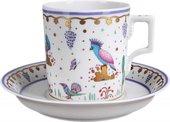 Чашка с блюдцем чайная Нескучный сад 2, ф. Гербовая ИФЗ 81.23635.00.1