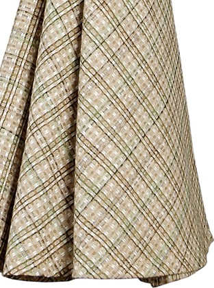"Clayre & Eef HERBS CHECK Чайное полотенце ""Травы"" - фрагмент, диаметр 80см, 3 шт., артикул HC48-3"
