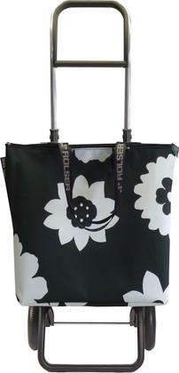 Сумка-тележка Rolser Cala Mini Bag, 2 колеса, складная, чёрно-белая MNB012negro/blanco