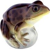 Скульптура фарфоровая Лягушка прудовая коричневая ИФЗ 82.63684.00.1