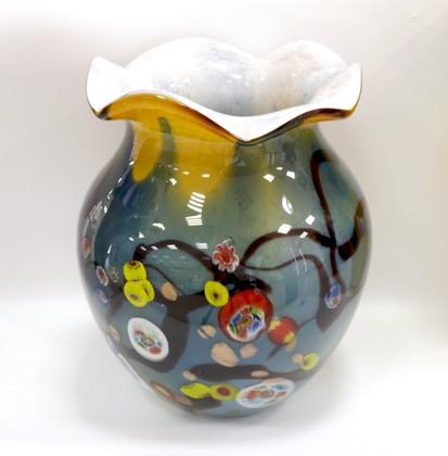 Ваза из цветного стекла 30см Top Art Studio ZB2182-TA