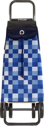 Сумка-тележка хозяйственная голубая ROLSER Logic Dos+2 IMX035azul