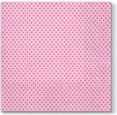 Салфетки ланч Точки, розовые 33x33, 3-сл, 20шт Paw TL690004