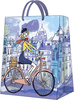 Пакет подарочный Парижский день 26.5x33.5x13см Paw AGB1001105