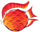 Фигурка стеклянная Top Art Studio Красный дискус 15x13см ZB2627-AG