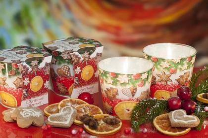 Свеча Рождественские Вкусы, стакан Bartek Candles 5901685031097