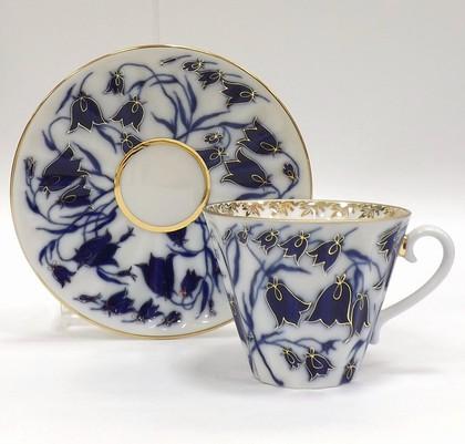 Чашка с блюдцем Колокольчики, ф. Лучистая ИФЗ 81.10520.00.1