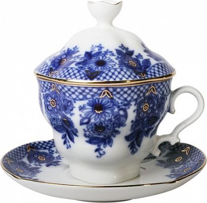 Чашка с блюдцем и крышкой чайная Гирлянда 250мл, ф. Подарочная-2 ИФЗ 81.14350.00.1