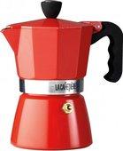 Гейзерная кофеварка KitchenCraft La Cafetiere 6 чашек, красный ES000006