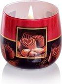 Свеча декоративная Bartek Candles Пралине 80х75, стакан 5901685040563