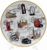 Тарелка декоративная Lesser & Pavey Достопримечательности Лондона 20см LP93867