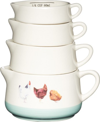 Набор мерных чаш KitchenCraft Apple Farm, 4шт AFMCUPSET