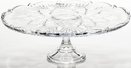 """Тарелка для торта на ножке """"Лира"""" 31см Crystalite Bohemia 69003/0/99002/310"""
