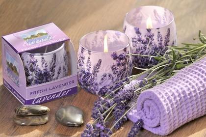 Свеча декоративная Bartek Candles Лаванда, стакан 8x7.5см 5907602662658