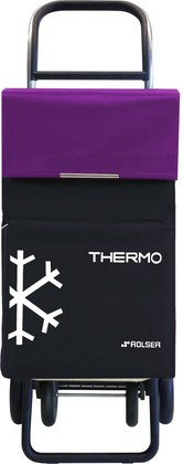 Сумка-тележка Rolser Termo, 4 колеса, термосумка, чёрная с фиолетовым TER039negro/malva