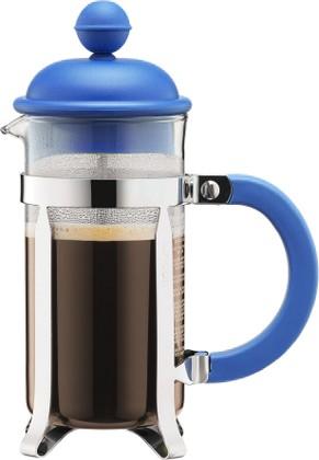 Кофейник с френч-прессом 0.35л, синий Bodum CAFFETTIERA 1913-842