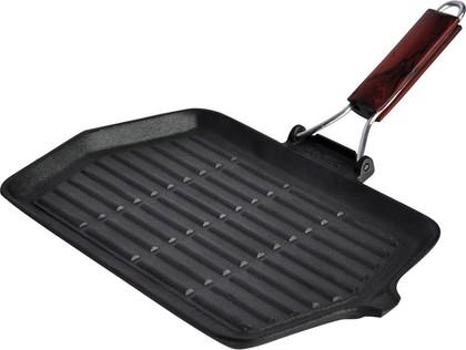 Сковорода-гриль с деревянной ручкой 36х22х1см Linea Ferro Regent Inox 93-FE-6-36