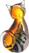 Фигурка стеклянная Top Art Studio Цветной котёнок, 5.5x10.5см ZB2656-AG