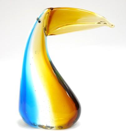 Фигурка стеклянная Тукан 14.5х18см Top Art Studio ZB1522-TA