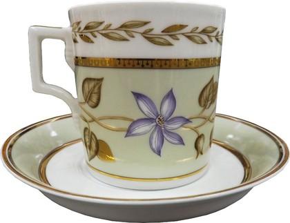 Чашка с блюдцем Нефритовый фон 2, ф. Гербовая ИФЗ 81.20826.00.1