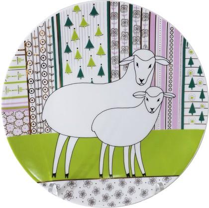 Тарелка декоративная ИФЗ Эллипс, Весёлые овечки Хорошо вместе! 80.80124.00.1