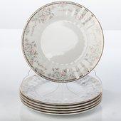 Тарелка десертная Весенний букет 19см Porcelaine Czech Gold Hands LUISA14102TD19х1