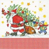Салфетки для декупажа Paper+Design Дед Мороз с подарками, 33x33см, 20шт 60749