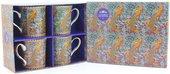 Набор кружек Уильям Моррис Волшебный сад 4шт 300мл The Leonardo Collection LP92793
