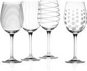 Фужер для белого вина KitchenCraft Mikasa 450мл, набор 4шт, хрустальное стекло 5159282