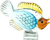 Фигурка стеклянная Top Art Studio Голубая рыбка, 28x7x18см ZB2657-AG
