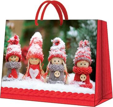 """Пакет подарочный """"Снежные куколки"""" 33.5x26.5x13см Paw AGB018206"""