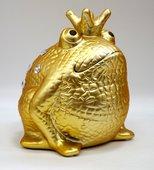 Копилка Царевна Лягушка Золотая с белыми камнями Pomme-Pidou 148-00210/3