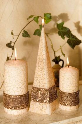 """Свеча """"Греция"""" колонна 7х15cм Bartek Candles 5907602659894"""