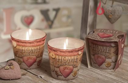 Свеча Дом милый дом, стакан Bartek Candles 5901685448208