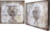 Модульная картина Top Art Studio Античность 38x38см, пара, дерево, лак WDP1764-TA