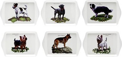 Поднос малый Собаки 21x14см (6 видов) The Leonardo Collection LP91146