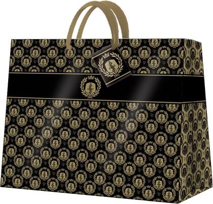 Пакет подарочный Королевский (черный) 33.5x26.5x13см Paw AGB017206