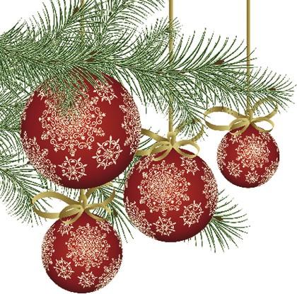 Салфетки Стеклянный шар со снежинкой 3-сл., 20шт 33x33см Paw TL637000