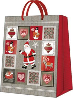 Пакет подарочный бумажный Paw Картинки Рождества 26.5x33.5x13см AGB029105