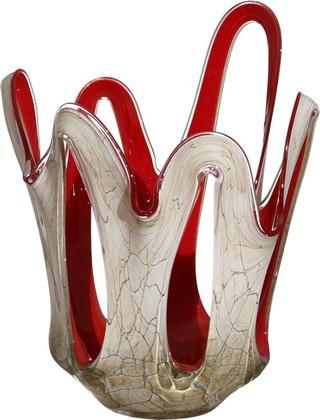 Ваза из цветного стекла для фруктов 36см Коррида Jozefina 07-161-360-589