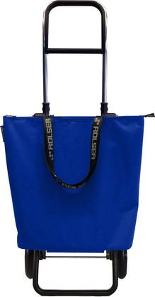 Сумка-тележка хозяйственная синяя Rolser LOGIC RG MINI BAG MNB009azul