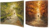 Модульная картина Top Art Studio Живописная аллея, 58x58см, пара, дерево, лак WDP1741-TA
