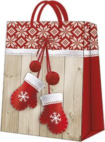 "Пакет подарочный ""Зимние варежки"" 20x25x10см Paw AGB030603"