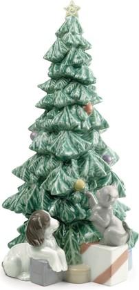 Статуэтка фарфоровая NAO Рождественские шалуны (Christmas Mischief) 27см 02001620