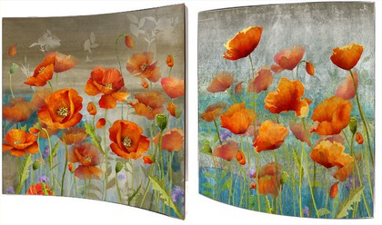 Картина Маковая поляна 58x58см, пара Top Art Studio WDP1736-TA