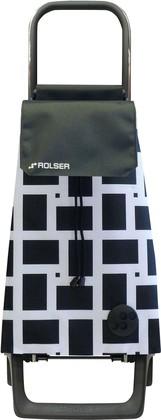 Сумка-тележка Rolser Geometrik Joy-1800, чёрно-белая, 2 колеса BAB028blanco