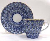 Чашка с блюдцем Незабудка, ф. Лучистая ИФЗ 81.10305.00.1