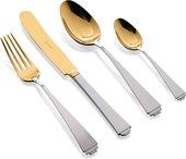 Набор столовых приборов Herdmar Sirius Mat Old Gold, 24 предмета, матовый, состаренное золото 183302401172000021
